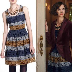⚜️Anthropologie Maeve Crochet Striated Lace Dress